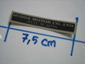 Repro Sticker Decal Emblems HONDA MOTOR CO ., LTD.