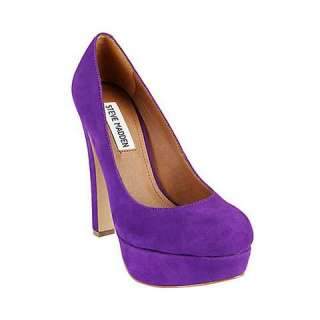 STEVE MADDEN BEASST PURPLE SUEDE WOMENS SLIP ON Size 8 M