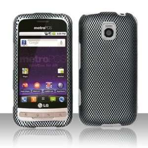 For LG Optimus M MS690 Carbon Fiber Design Hard Case