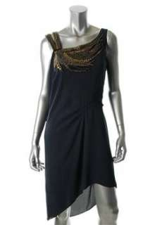 BCBG Maxazria NEW Blue Cocktail Dress Embellished Sale M