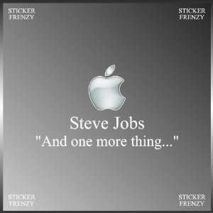 Remembering Steve Jobs Memory Apple Genius Decal Bumper Vinyl Sticker