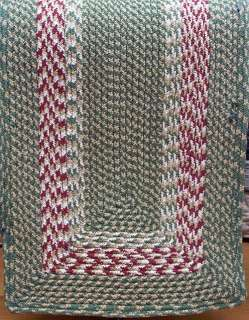PRIMITIVE BRAIDED TABLE RUNNERS, 13 X 48, ASST COLORS