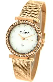 Skagen 108SRR Mother of pearl Round Dial Rose gold tone metal Womens