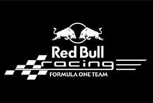 Red Bull F1 Team Vinyl Window Sticker/Decal (White)