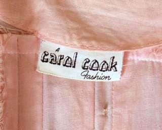 Vintage Dress Pink Cotton Shirt Waist Carol Cook 1950S
