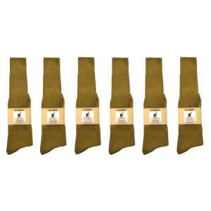 Alpaca Classic Socks   6 Pairs Large   Light Camel