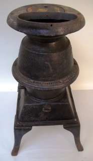 Antique Potbelly Cast Iron Stove Atlanta Stove Works GC