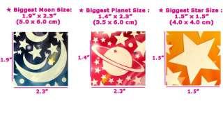 Children Wall Sticker Kids Decor Baby Room Glow Star Space Moon