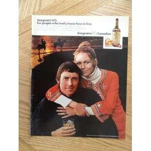 1972 Seagrams V.O. Whiskey (man & woman) magazine print