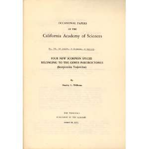 the California Academy of Sciences, no. 94): Stanley C Williams: Books
