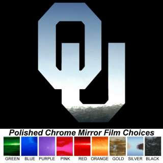 Oklahoma Sooners OU Polished Chrome Auto Window Decals