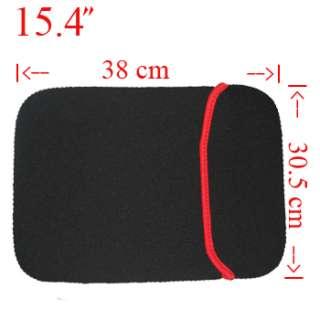 Blk 15.4 SOFT LAPTOP BAG NOTEBOOK CASE Fr DELL HP P120