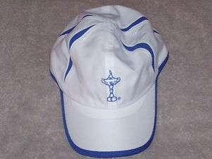 IMPERIAL RYDER CUP GOLF HAT   WHITE & DARK BLUE TRIM