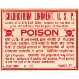 Chloroform   Poster (20x16)