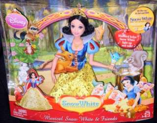 DISNEY MUSICAL SNOW WHITE & FRIENDS SINGING DOLL SET NW