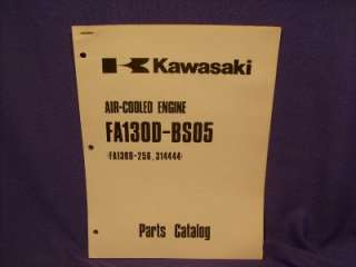 KAWASAKI FA130D BS05 PARTS LIST 4 CYCLE GAS ENGINE