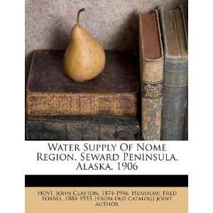Water Supply Of Nome Region, Seward Peninsula, Alaska