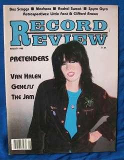 RECORD REVIEW MAGAZINE CHRISSIE HYNDE VAN HALEN 8/80 VINTAGE INFO