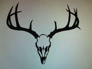 Deer Skull Buck head decal sticker car window