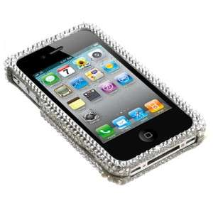 Apple iPhone 4 4S Crystal Diamond BLING Case Phone Cover, Christmas