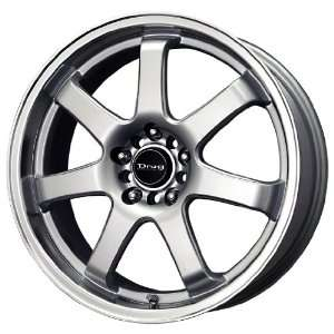 Drag DR 35 Silver Wheel with Machined Lip (18x7.5/5x100mm