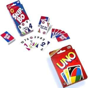 Uno and Skip Bo Card Game Mattel Bundle: Toys & Games
