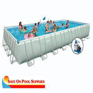 Intex 12x24x52 Ultra Frame Rectangular Above Ground Swimming Pool