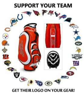 CLEVELAND BROWNS NFL LOGO CART GOLF BAG  MAKE US YOUR