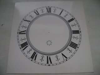 Junghans Replacement Paper Clock Face 6 1/2 inch Square Dial