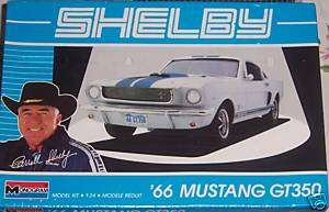 SHELBY 66 MUSTANG GT350 1:24 MONOGRAM MODEL KIT