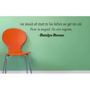 Stupid. So Are Regrets   Marilyn Monroe Quote Art Graphic Family Quote