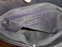 Coletta Black Genuine Leather Hand bag Purse