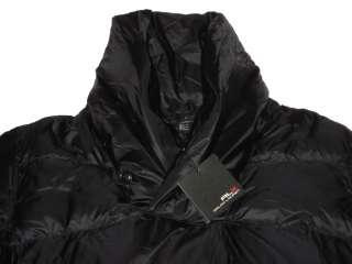 RLX Ralph Lauren Black Shawl Puffer Down Coat Jacket XL