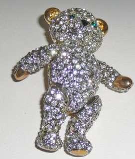 Movable head and limbs teddy bear brooch
