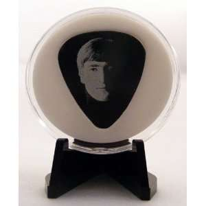 Meet The Beatles John Lennon Guitar Pick With Made In USA Display Case