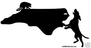 Coon Hunting North Corolina Decal Window Sticker 6