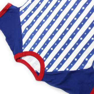12 Months Blue Unisex Lovely Striped Baby Romper