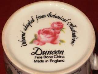 DUNOON Fine Bone China OSBORNE England Botanical Coffee Tea Mug Cup