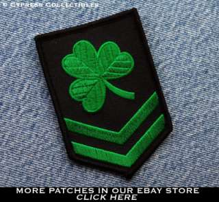 IRISH CLOVER MILITARY PATCH embroidered LUCKY SHAMROCK