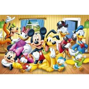 Disney Characters   Poster (Mickey, Minnie, Donald, Scrooge