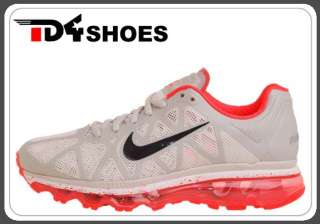 Nike Wmns Air Max 2011 Grey Solar Red Running Shoes 1 429890061