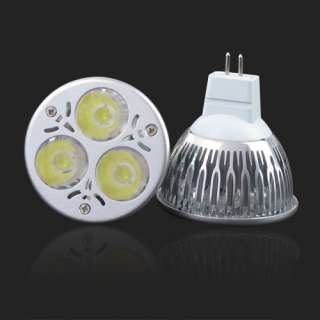 9W Mr16 Plug 3x3W Energy Saving Power Led Light Down Cool White Bulb