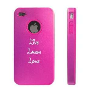 Apple iPhone 4 4S 4G Hot Pink D64 Aluminum & Silicone Case