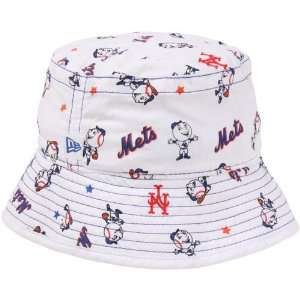 MLB New Era New York Mets Infant Bucket Hat   White