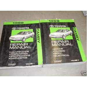 1999 Toyota Camry Service Repair Shop Manual Set Oem 99 (2