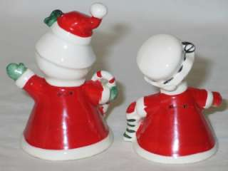 Christmas Norcrest Ceramic Santa & Mrs Claus Bell Set 1950s
