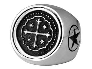 King Baby Studio Flip Coin RING Heart Cross K20 5213