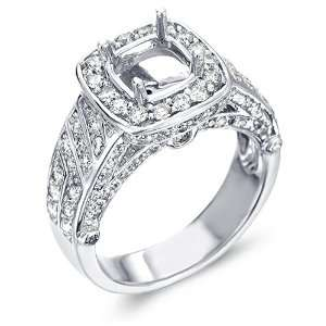 Setting Engagement Channel Pave Set Round Cut Diamond Ring (1.25 cttw