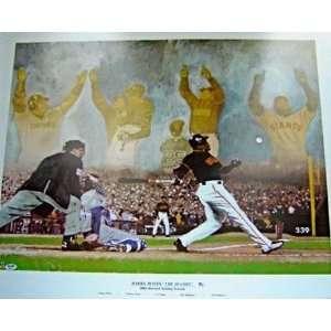 Barry Bonds San Francisco Giants   2001 Record Season   Autographed