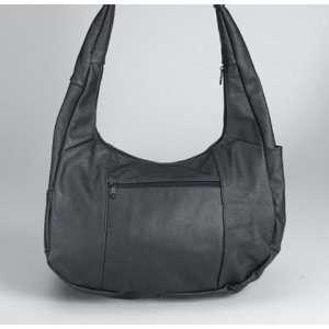 Black Leather Saddle Bag